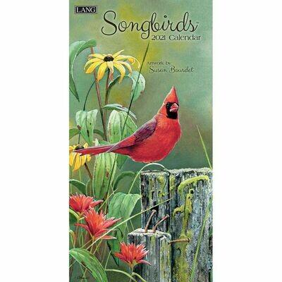 Lang Spiral Top Vertical Calendar - Songbirds - Susan Bourdet