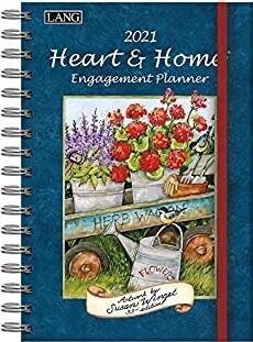 Lang Engagement Planner - Heart & Home - Susan Winget - Spiral Book Style Calendar