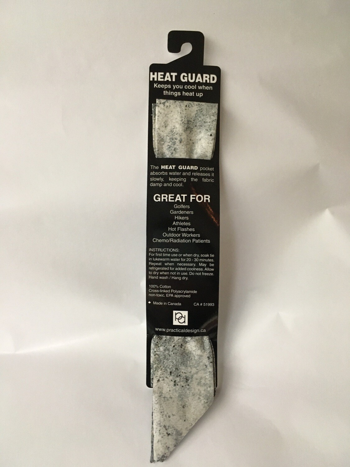 Heat Guard Cooling Tie - Smoke -  Handmade in Canada
