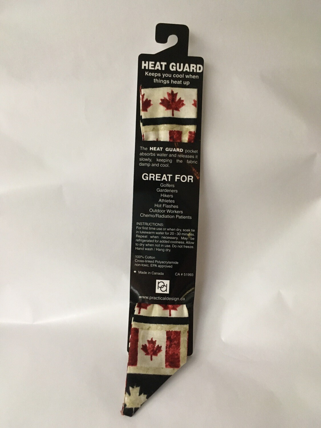 Heat Guard Cooling Tie - Oh Canada 2 -  Handmade in Canada