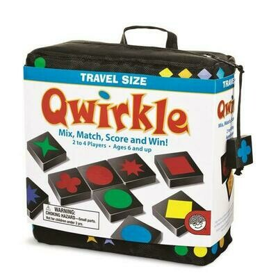 Qwirkle - Travel Size Game - with Carrying Bag/Pouch, Ages 6 and up
