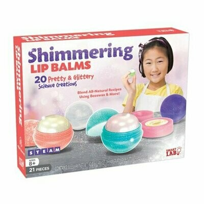 Shimmering Lip Balms - All Natural Recipes - Ages 8 and up