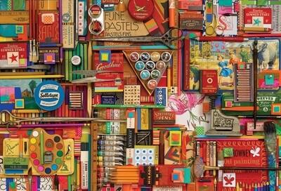 Vintage Art Supplies - 2000 Piece Cobble Hill Puzzle
