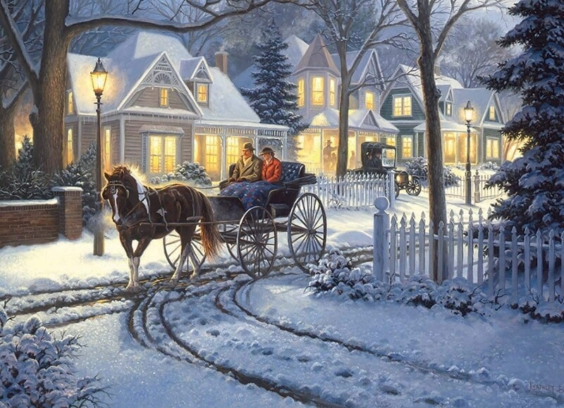 Horse-Drawn Buggy - 1000 Piece Cobble Hill Puzzle