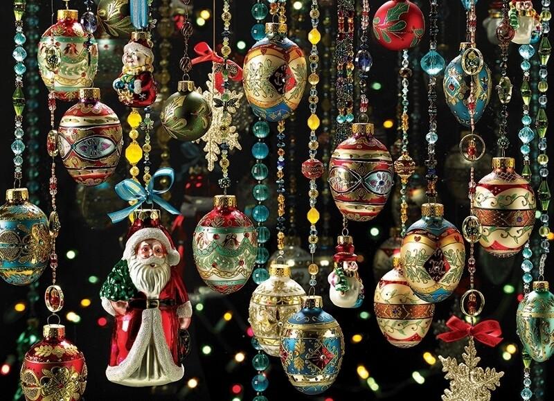 Christmas Ornaments - 1000 Piece Cobble Hill Puzzle