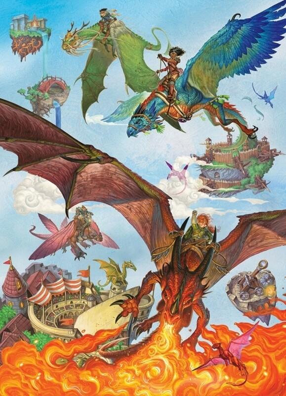 Dragon Flight - Family Pieces - 350 Piece Cobble Hill Puzzle