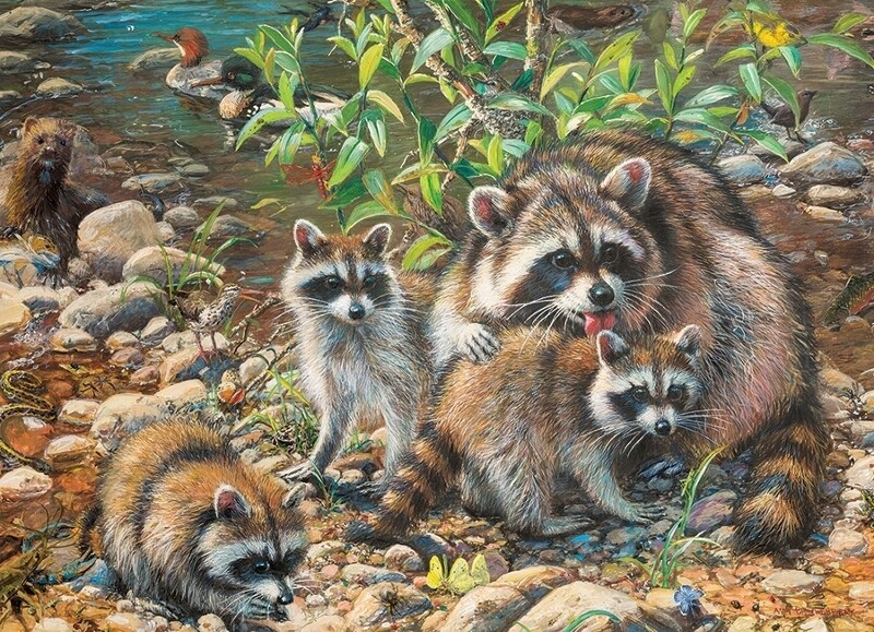 Raccoon Family - Family Pieces - 350 piece Cobble Hill Puzzle
