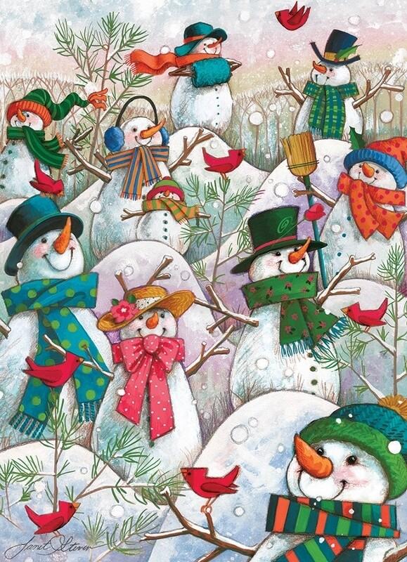 Hill of a Lot of Snowmen - 500 Piece Cobble Hill Puzzle
