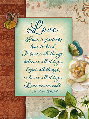Wedding - Love is Patient, Love is Kind...  May Your Life Together be Blessed