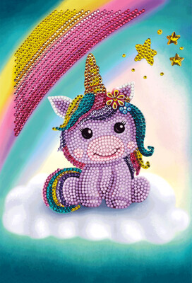 Crystal Art Notebook Kit - Unicorn Smile - Craft Kit
