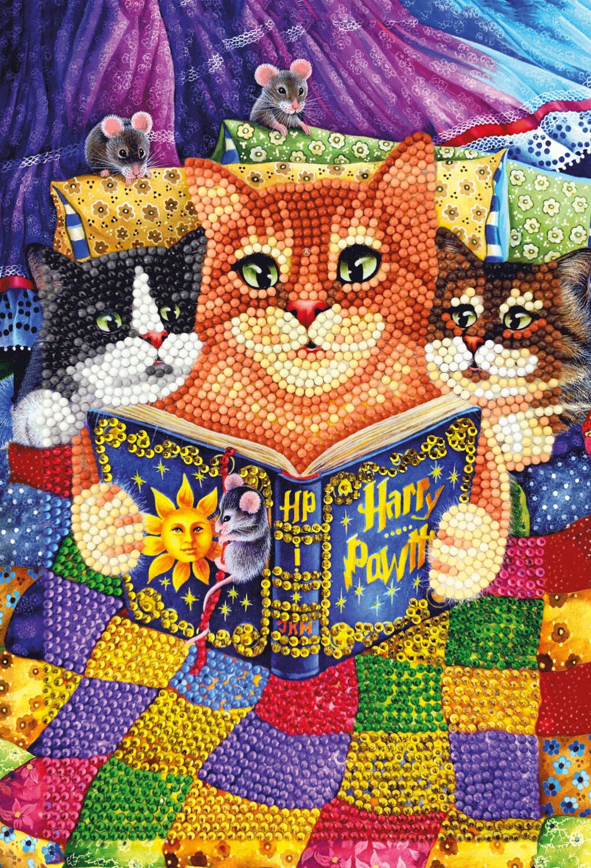 Crystal Art Notebook Kit - Kitty Bedtime Stories - Craft Kit