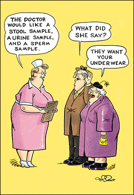 Birthday - Nurse Talking to Old Couple