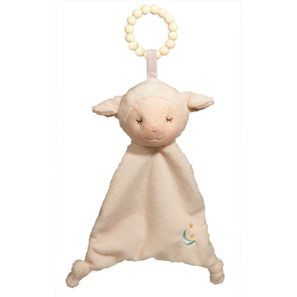 Lamb - Teether Blanket - Lil' Sshlumpie - 13 inch - Douglas Baby
