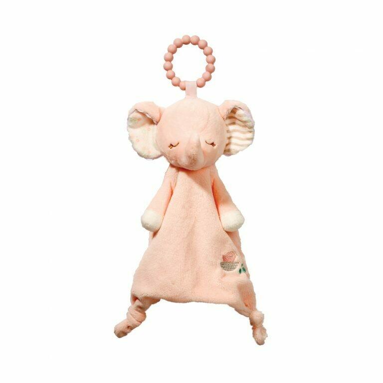 Pink Elephant - Teether Blanket - Lil' Sshlumpie - 13 inch - Douglas Baby