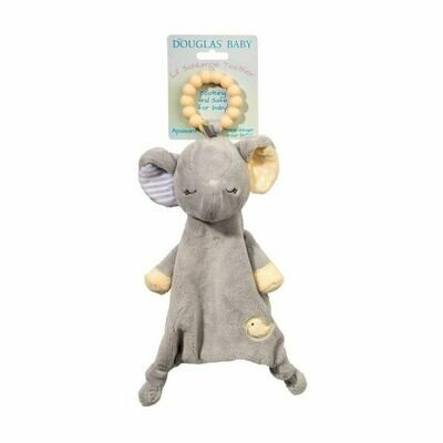 Grey Elephant - Teether Blanket - Lil' Sshlumpie - 13 inch - Douglas Baby