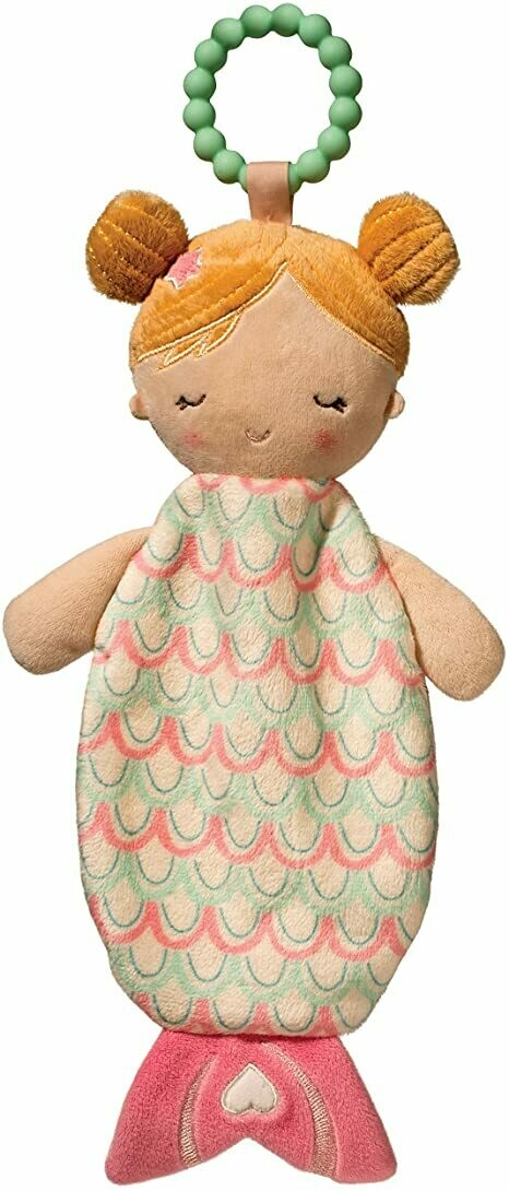 Mermaid - Teether Blanket - Lil' Sshlumpie - 13 inch - Douglas Baby