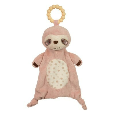 Pink Sloth - Teether Blanket - Lil' Sshlumpie - 13 inch - Douglas Baby
