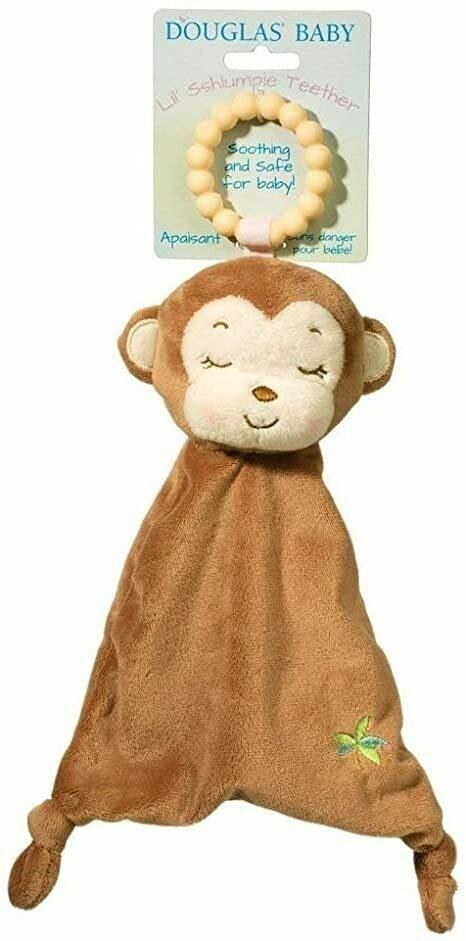 Monkey - Teether Blanket - Lil' Sshlumpie - 13 inch - Douglas Baby