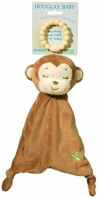 Monkey - Teether Blanket - Lil' Sshlumpie - 13 inch - Douglas Baby