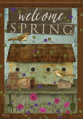 Welcome Spring Birdhouse - Green -