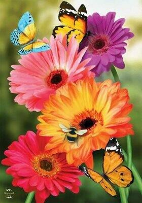 """Garden Gerber Daisies - Garden Flag - 12.5 """" x 18"""""""