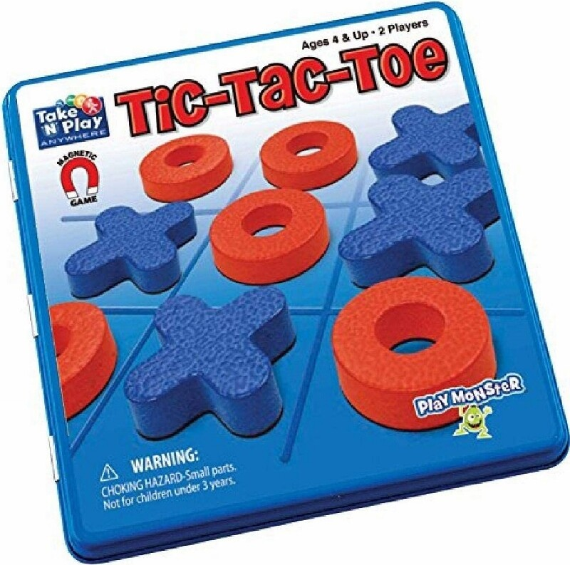Tic-Tac-Toe Game Tin - Magnetic Take and play