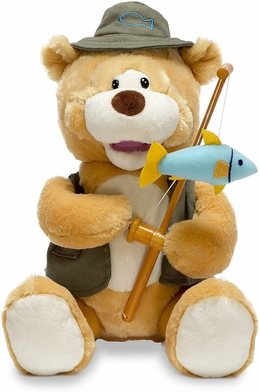 "Gone Fishin' Flynn - Bear with Fishing Pole - Sings ""Sitting on the Dock of the Bay"" and Moves"