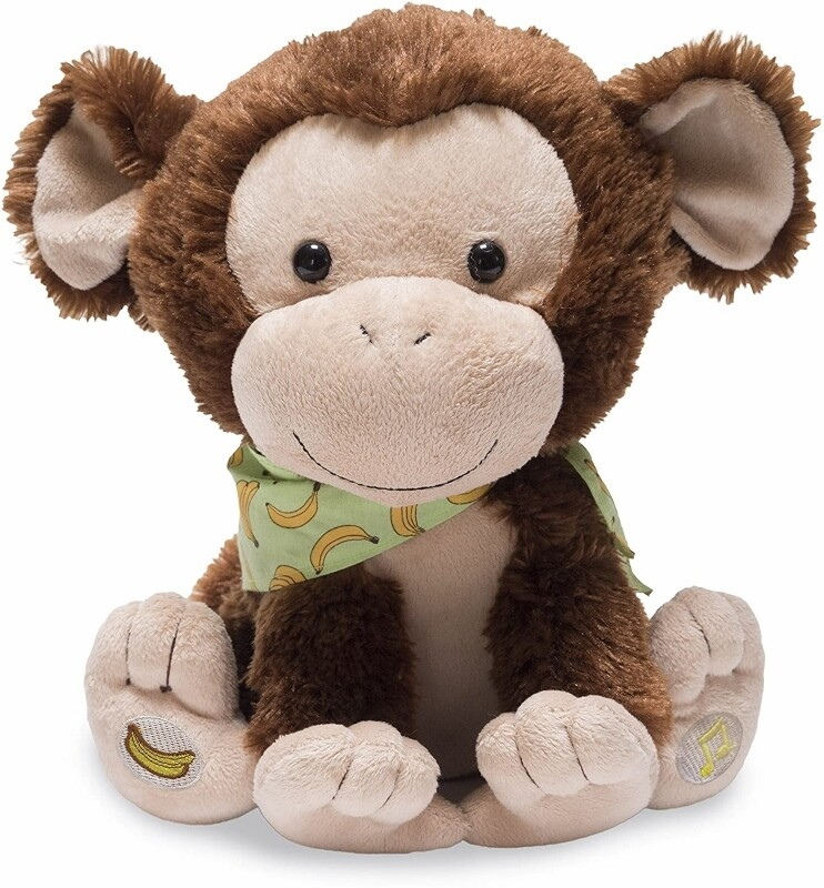 "My Monkey Marvin - Brown - Sings ""Apples and Bananas"", makes Monkey Sounds and Moves"