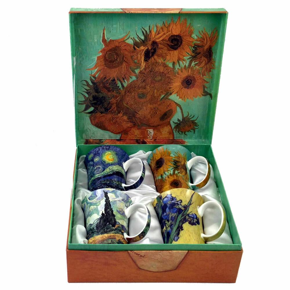 Van Gogh Classics - Set of Four Fine Bone China Mugs in Collector Box