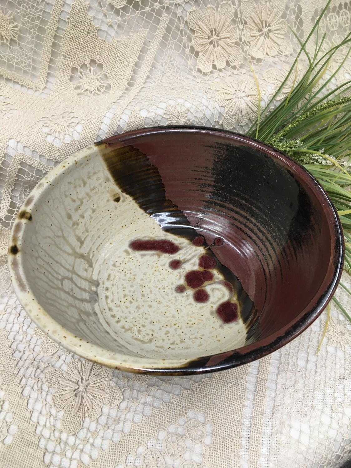 Extra Large Deep Bowl, Cream Ash - Parsons Dietrich Pottery - Canadian Handmade