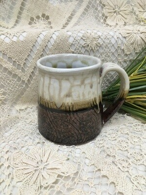 Mug, Wide bottomed, Cream Ash - Parsons Dietrich Pottery - Canadian Handmade