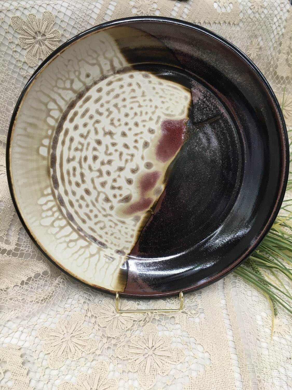Large Deep Platter, Cream Ash - Parsons Dietrich Pottery - Canadian Handmade