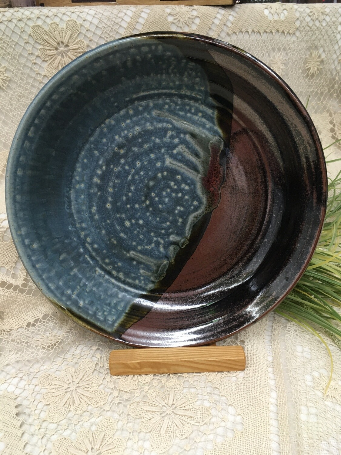 Pasta Bowl, Blue Ash - Parsons Dietrich Pottery - Canadian Handmade