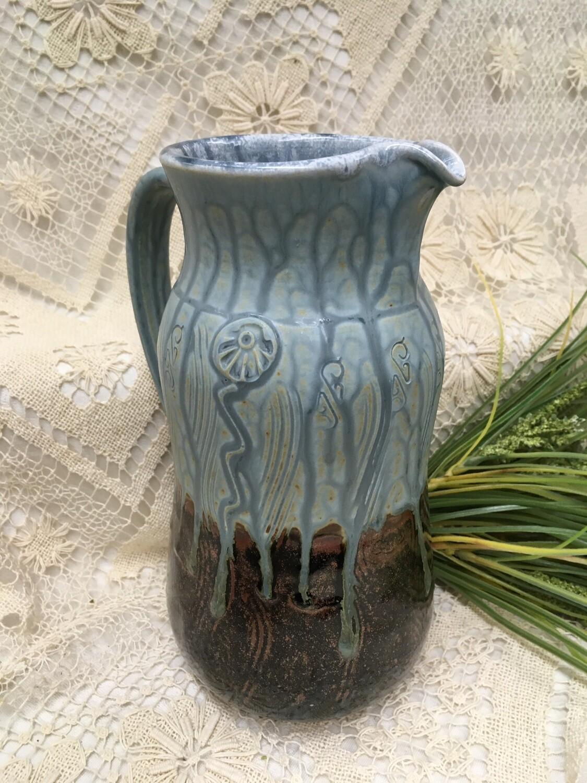 Pitcher / Vase, Blue Ash - Parsons Dietrich Pottery - Canadian Handmade