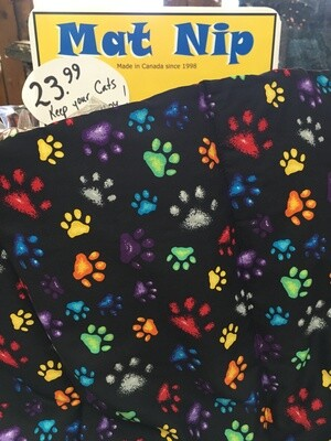 Mat Nip  - Cat Paws - Catnip infused Kitty play mat