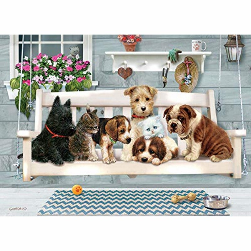Tray Puzzle, Porch Swing Buddies - 35 pieces - Cobble Hill