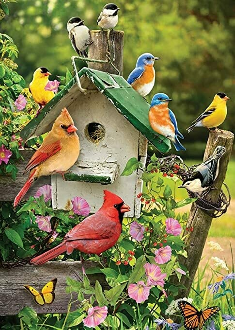 Tray Puzzle, Singing around the Birdhouse - 35 pieces - Cobble Hill