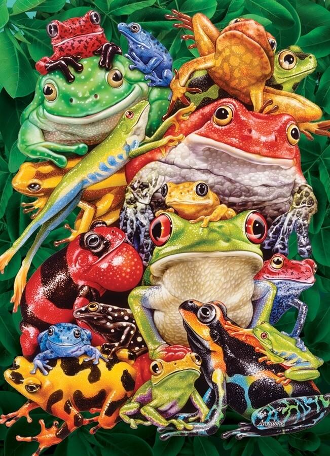 Frog Business - 1000 Piece Cobble Hill Puzzle