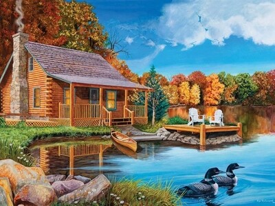 Loon Lake - 500 Piece Cobble Hill Puzzle