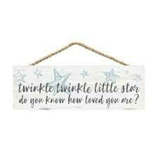 Wood Word String Sign - Twinkle twinkle little star - P.G. Dunn Designs
