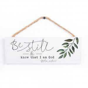 Wood Word String Sign - Be Still and Know that I am God - P.G. Dunn Designs