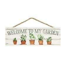 Wood Word String Sign - Welcome to My Garden - P.G. Dunn