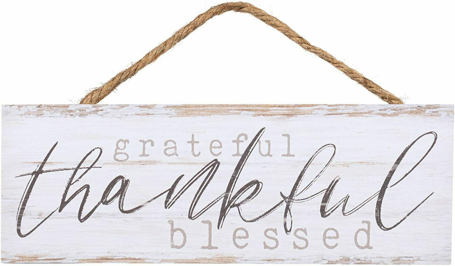 Wood Word String Sign - Grateful, Thankful, Blessed - P.G. Dunn