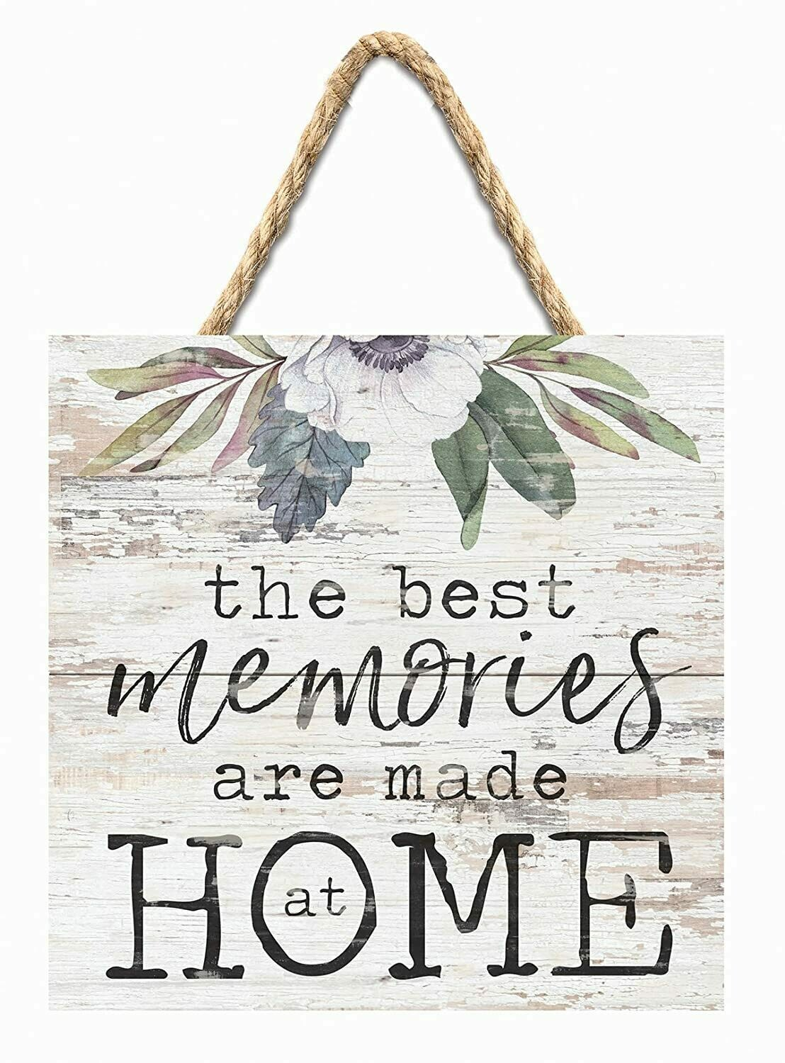 Wood Word Pallet String Sign - The Best Memories are made at Home - P.G. Dunn