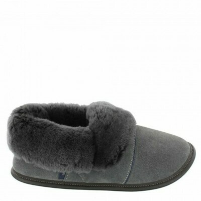 Mens Low-cut - 10.5/11.5  Charcoal / Silverfox fur