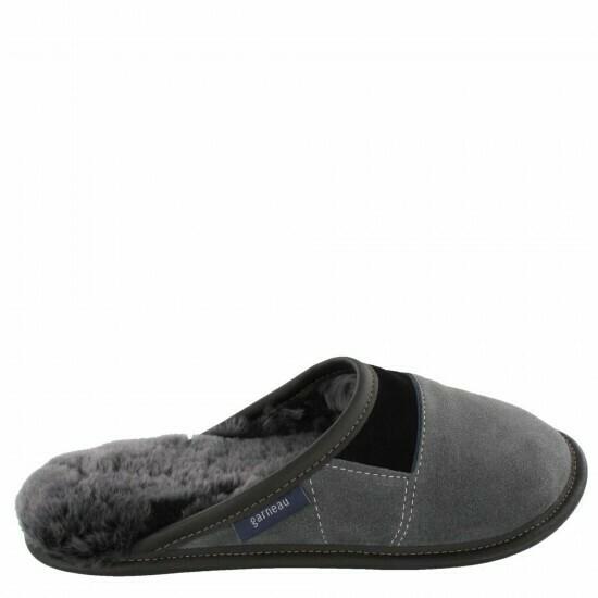Mens Slip-on - 10.5/11.5  Charcoal / Silverfox fur