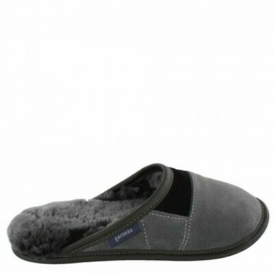 Mens Slip-on - 10.5/11.5  Charcoal / Silverfox fur