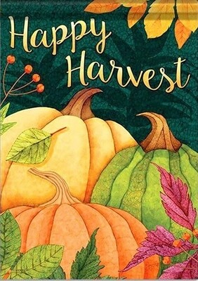 Pumpkin Patch - Happy Harvest - Garden Flag - 12.5