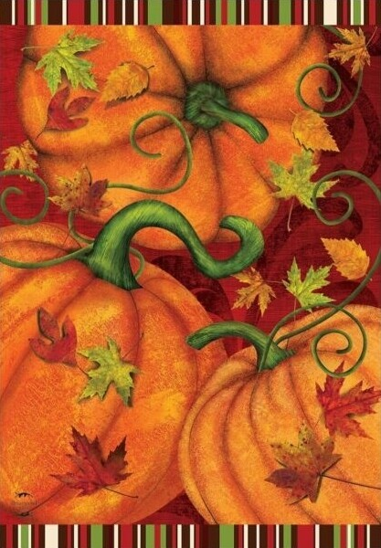 "Pumpkin Patch - House Flag - Fall  28"" x 40"""
