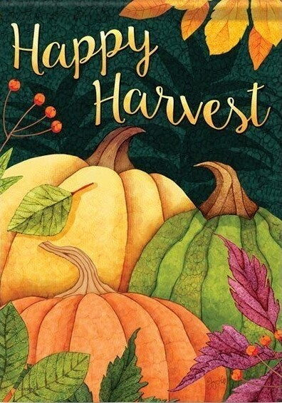 "Pumpkin Patch - House Flag - Happy Harvest 28"" x 40"""